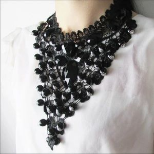 Jewelry - Gothic Statement Black Lace Necklace.. new